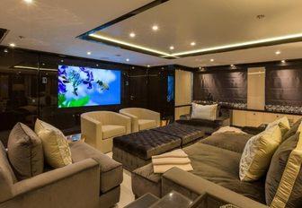 The interior of superyacht ELIXIR