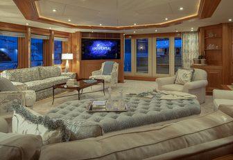 luxury yacht main salon