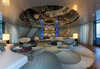 The main salon of luxury yacht SAVANNAH