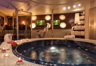 spa pool on luxury yacht sherakhan