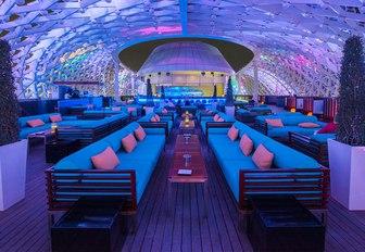 Skylite roof top bar on Yas Island during the Abu Dhabi Grand Prix