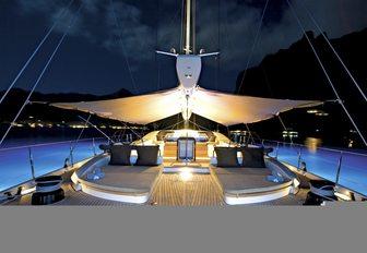 The exterior of sailing yacht SALPERTON