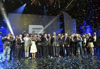 winners at the MIPIM Awards up on stage