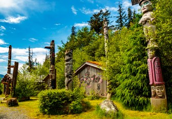 the totem park in Alaska that is a popular tourist destination especially with luxury yacht charter guests