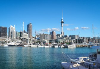 Auckland in New Zealand as seen from the water