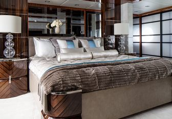 glamorous master suite on board charter yacht TURQUOISE
