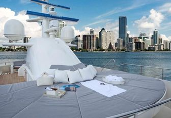 Below Deck superyacht VALOR, or BG, sundeck with sunpads and jacuzzi pool