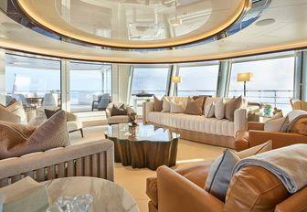 Main salon on superyacht EXCELLENCE