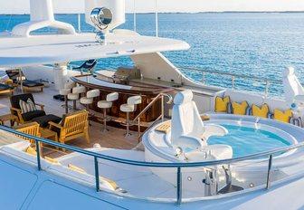 superyacht sundeck with jacuzzi pool