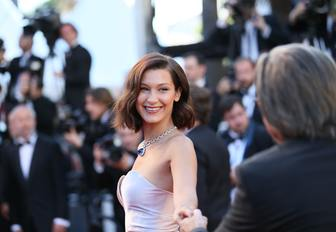 Bella Hadid has her picture taken on the red carpet at the Cannes Film Festival