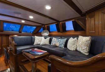 Upper salon of sailing yacht MARAE