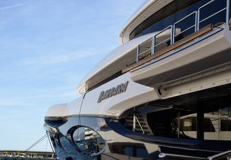 superyacht BARBARA up close at the Monaco Yacht Show 2018