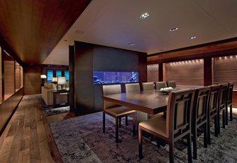 Main salon area on superyacht AMARULA SUN