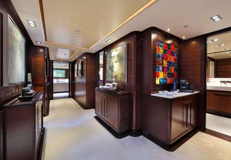 luxury yacht prana main foyer