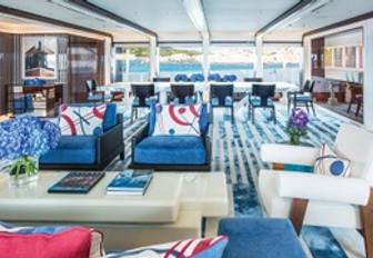 Main salon on superyacht MADSUMMER