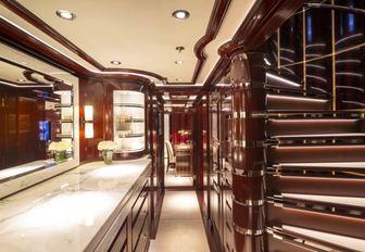 interiors on superyacht rockit