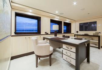 office forming part of the master suite aboard superyacht 4YOU