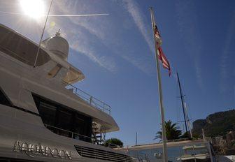 superyacht BRIGADOON up close at the Monaco Yacht Show 2018