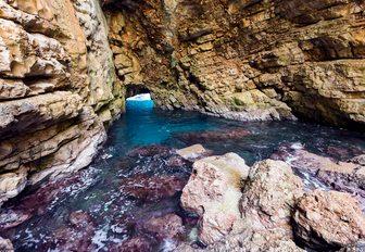 Grotto on island in Croatia
