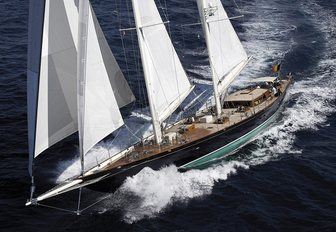 sailing yacht This Is Us cruises through the Mediterranean waters on a luxury yacht charter