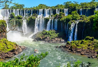 cascading waterfalls in south america