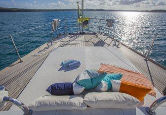 sunpads aft aboard luxury yacht JUPITER