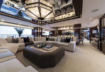 The main salon of luxury yacht 11.11