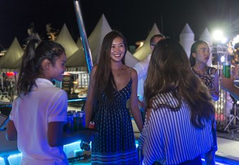 visitors enjoy drinks at a party at the Thailand Yacht Show & Rendezvous