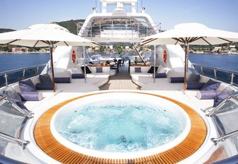 The water-filled Jacuzzi on board superyacht Talisman Maiton