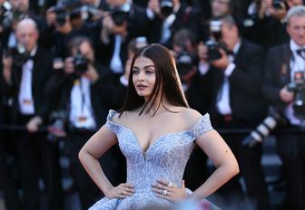 Rai Bachchan has photo taken on the red carpet at the Cannes Film Festival