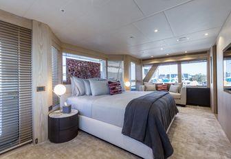 A guest cabin on board superyacht AKIKO