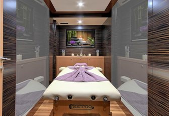 luxe massage room on board sailing yacht MEIRA