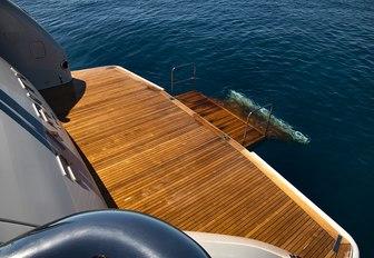 Swim platform on superyacht RARITY