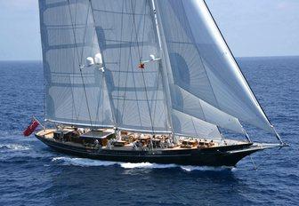 superyacht METEOR prepares for the 2017 St Barths Bucket Regatta