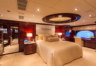 full-beam master suite on board luxury yacht Lady Joy