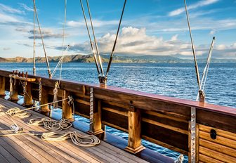 Decks of luxury yacht LAMIMA
