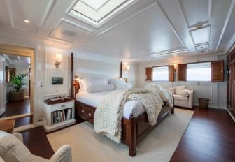 stylish master suite on board superyacht Haida 1929