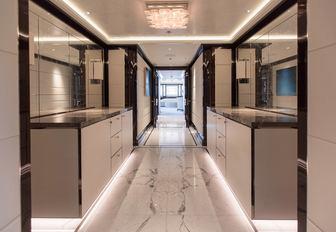 AQUILA yacht corridor
