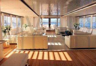 Social space aboard luxury charter yacht AIR