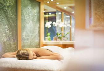Massage table on superyacht solandge