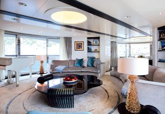 modern styling in the skylounge aboard superyacht QUITE ESSENTIAL