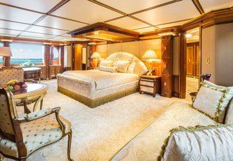 opulent master suite on board motor yacht My Seanna