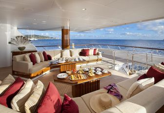 The alfresco dining options available on board superyacht 'Lady Britt'