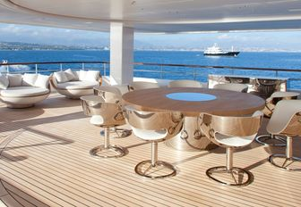 Outdoor deck space aboard superyacht AIR