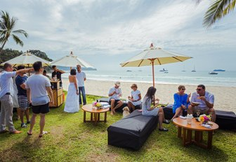 guests gather for an alfresco party at the Kata Rocks Superyacht Rendezvous in Phuket