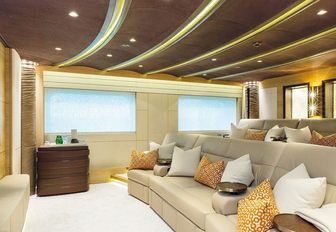 The home cinema included on board motor yacht Here Comes The Sun