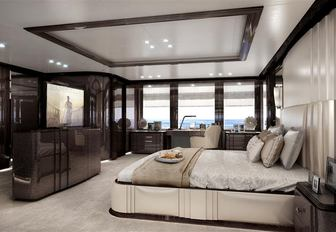 guest suite on luxury charter yacht spectre