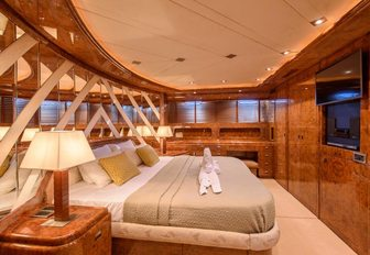 The master cabin of luxury yacht Ocean Glass