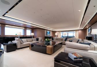 Another view of the main salon of superyacht