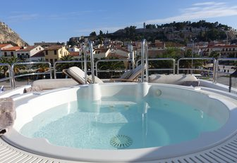 A Jacuzzi with Nafplion, Greece in the background